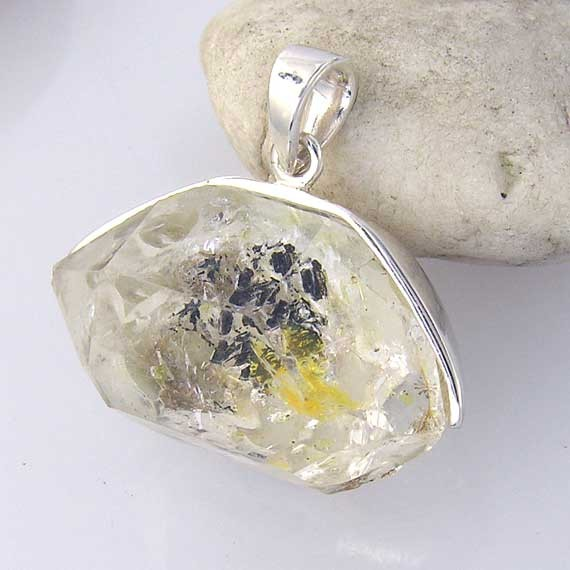 Covered East to West Back and Bale Sterling Silver Pendant-EW back-31