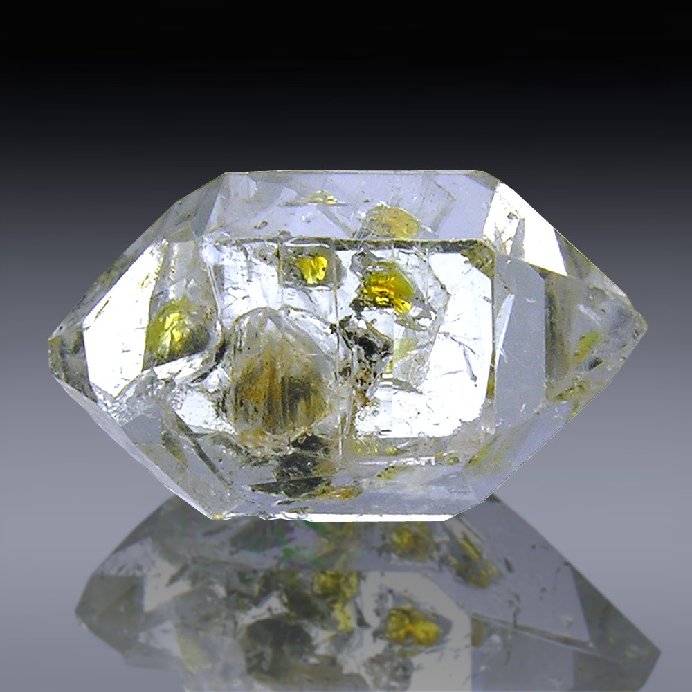 16.92cts Museum Grade Herkimer Diamond Quartz Crystal 22mm x 11mm-1819A017-339