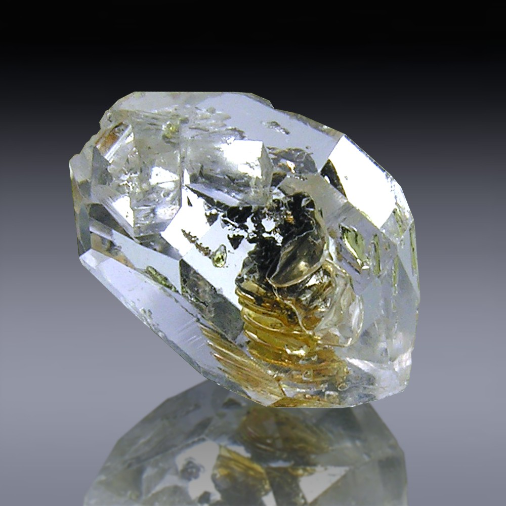 16.37cts Museum Grade Herkimer Diamond Quartz Crystal 19mm x 13mm-1819A021-344