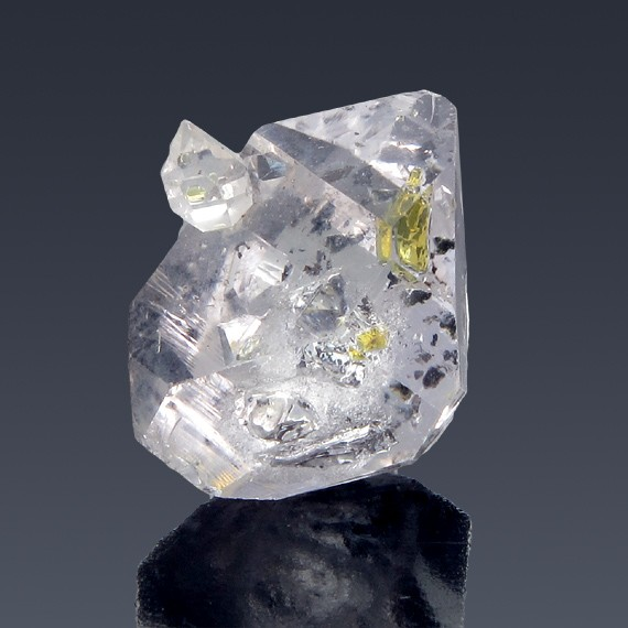 23.05ct Herkimer Diamond Quartz Crystal 21mm x 16mm-217B166-B-30