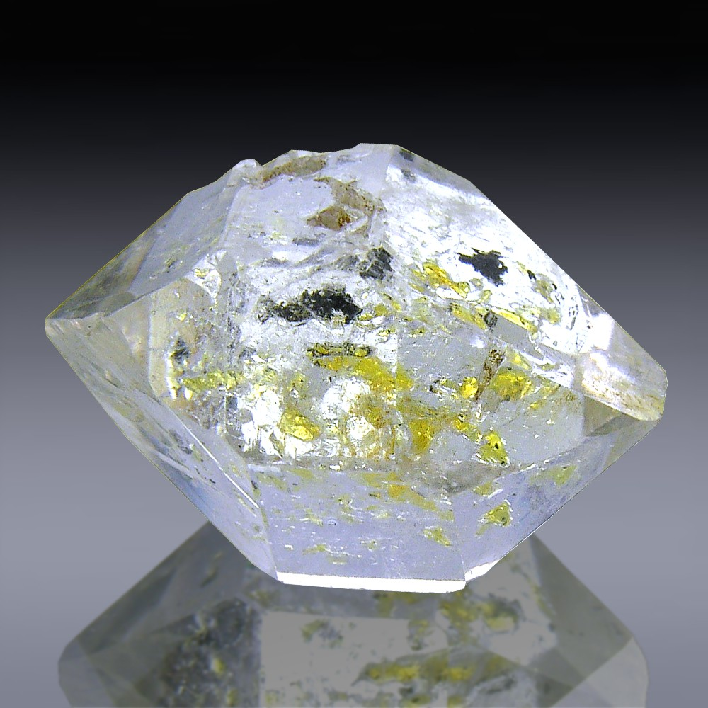 30.10ct Herkimer Diamond Quartz Crystal 23mm x 17mm-217B112-30