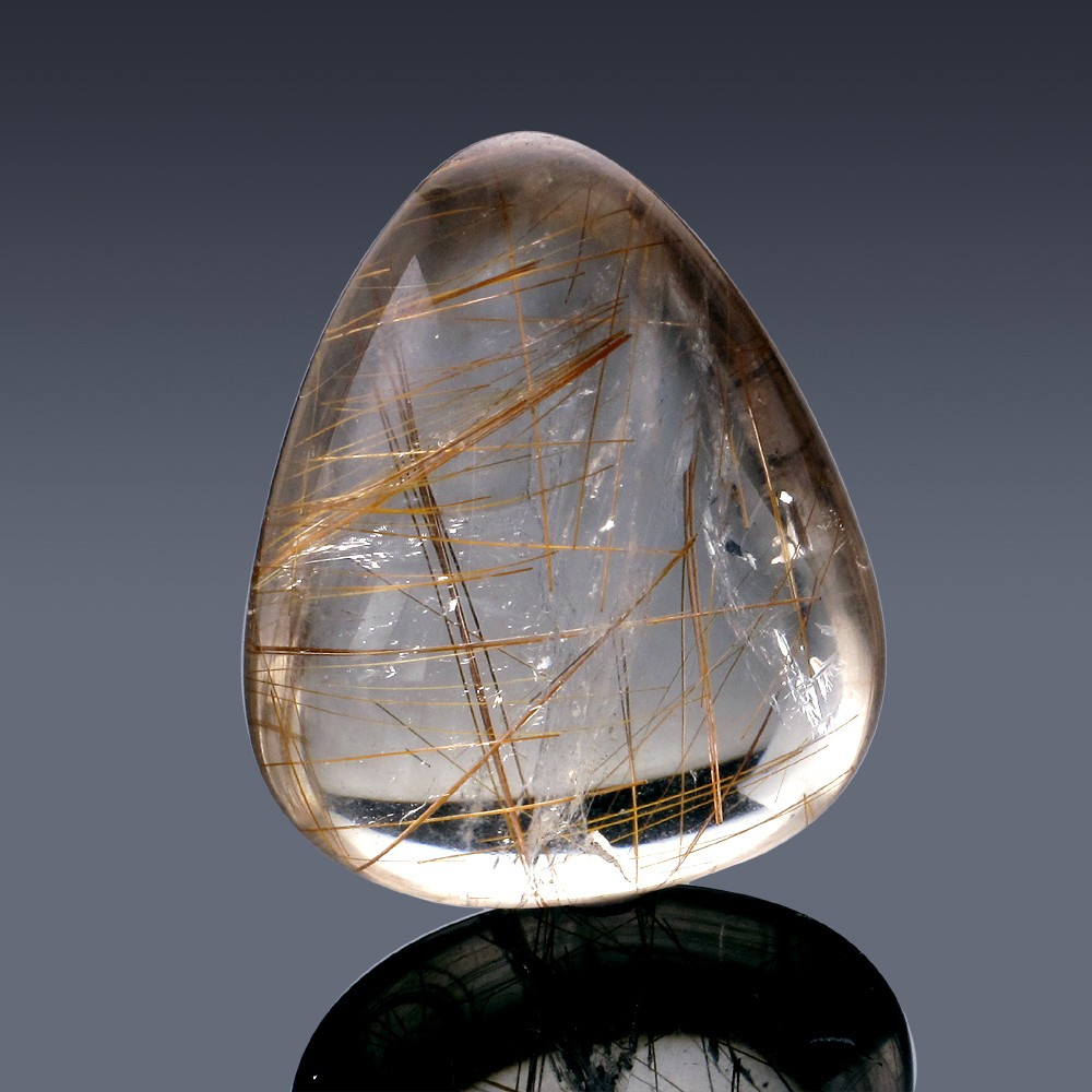 59.51ct Rutilated Quartz Crystal 30mm x 24.5mm x 12.5mm-2A-30