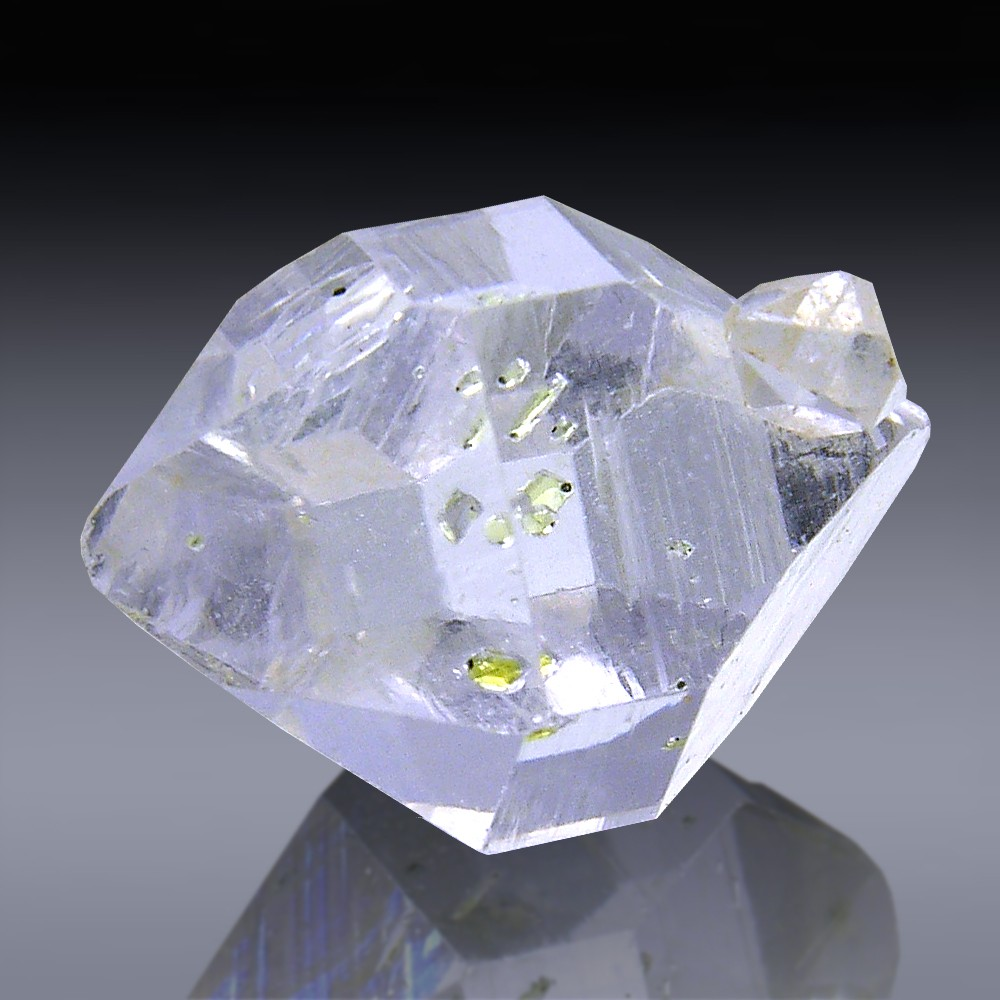 8.54ct Herkimer Diamond Quartz Crystal 15mm x 11mm-554A067-348