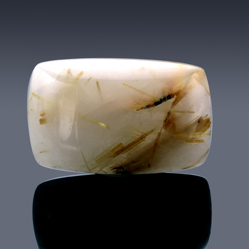 36.09ct Rutilated Quartz Crystal 27.5mm x 12.5mm x 7.5mm-59A-30