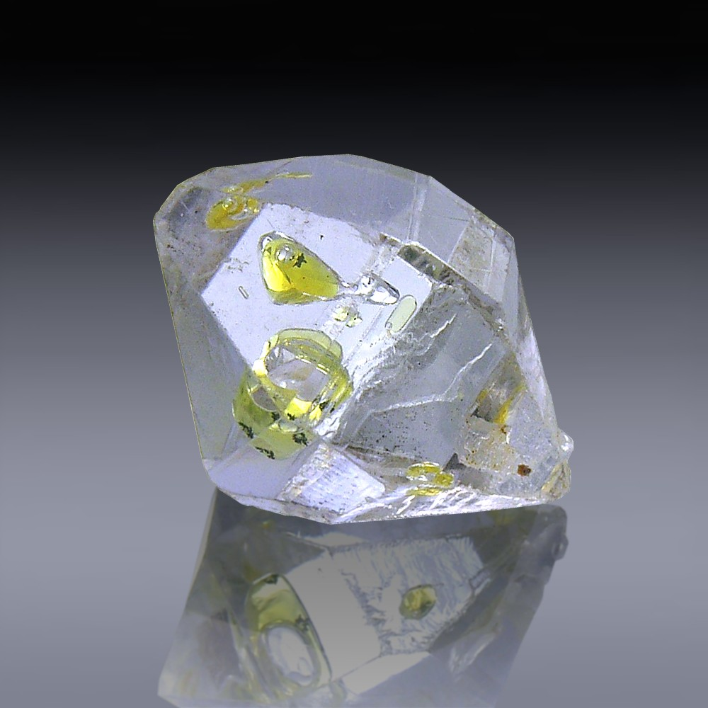 8.95ct Herkimer Diamond Quartz Crystal 15mm x 11mm-954A103-385