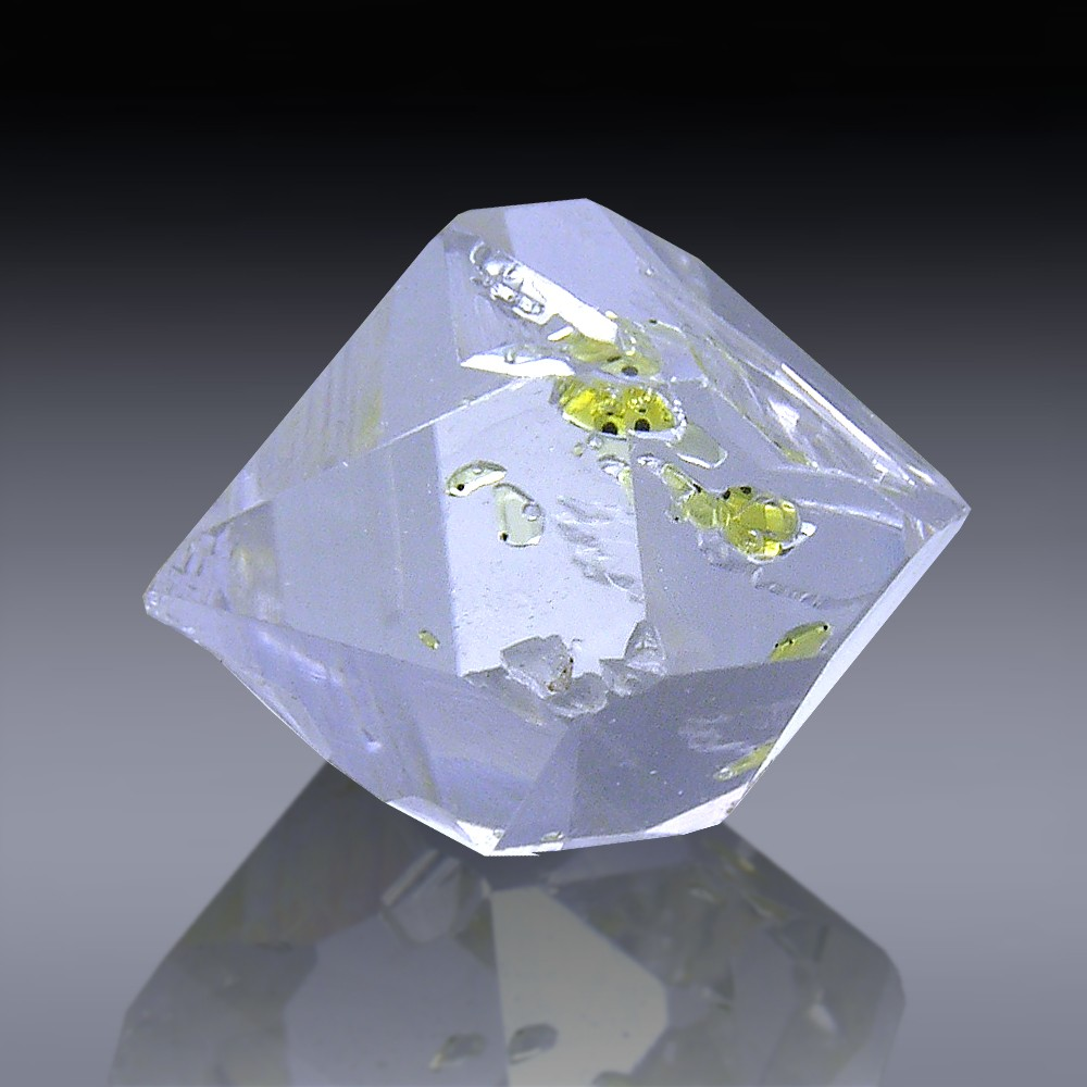 11.92ct Herkimer Diamond Quartz Crystal 16mm x 12mm-954A106-396