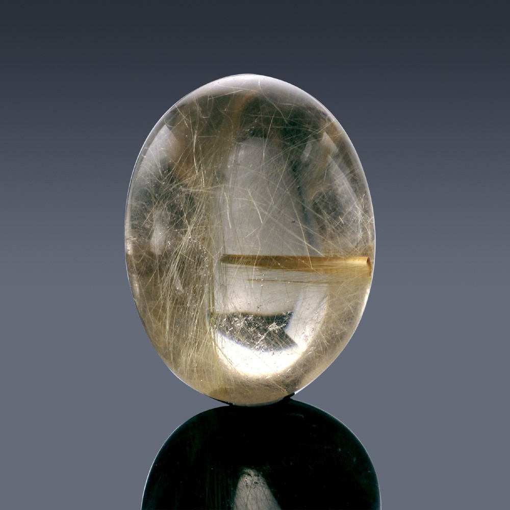 34.4ct Rutilated Quartz Crystal 25mm x 19mm x 12mm-9A-30