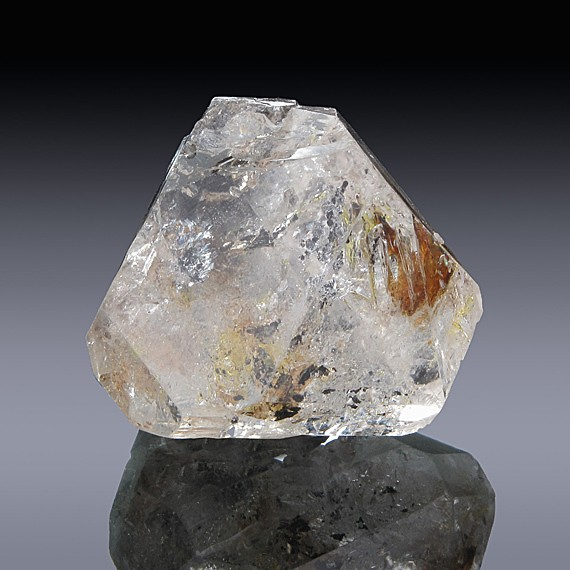 97.90ct Large Single Terminated Enhydro Quartz Crystal-109D003-F-30