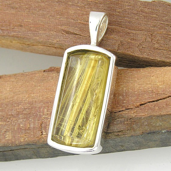 Golden Rutilated Quartz Pendant