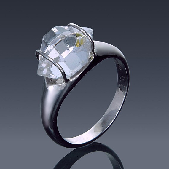 Herkimer Diamond East to West Set Ring 925 Sterling Silver Made to order-1855-custom-30