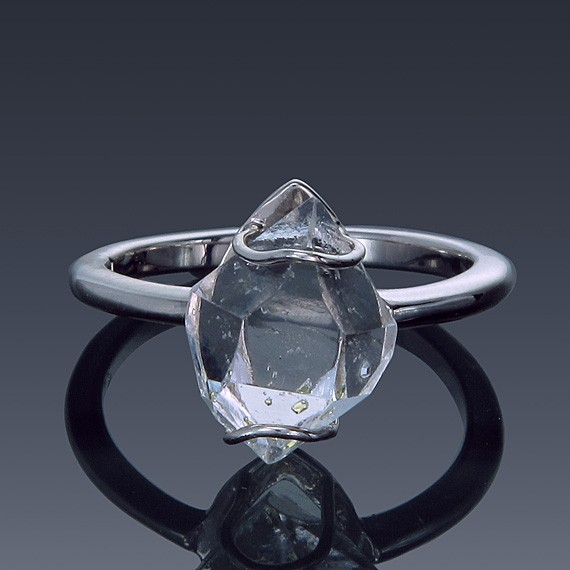 Herkimer Diamond North to South Set Ring 925 Sterling Silver Made to order-1856-custom-30