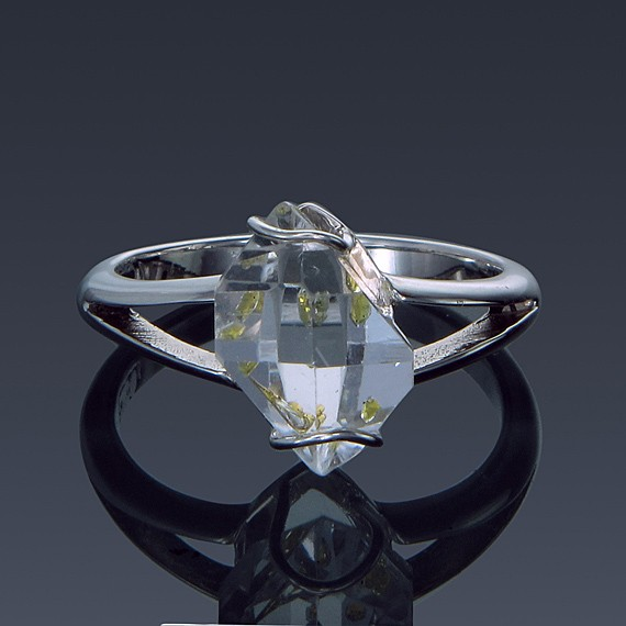 Herkimer Diamond Split Shank 925 Sterling Silver Ring Made to order-1859-custom-30