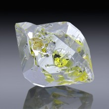 7.18ct Herkimer Diamond Quartz Crystal 15mm x 13mm-554A100-20