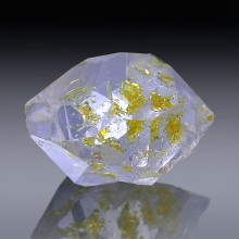 7.67ct Herkimer Diamond Quartz Crystal 14mm x 11mm-954A183-20