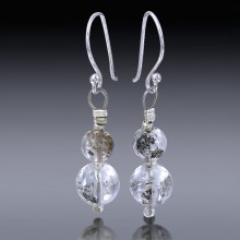 Herkimer Diamond Beads Earrings 925 Sterling Silver-HDE_Beads_001-20
