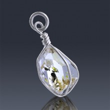 7.15ct Herkimer Diamond Quartz Crystal 925 Sterling Silver Wrap Around Pendant-HDP301-20