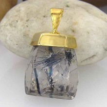18K Gold Over Silver Custom Made Quartz Pendant-18k-top-20
