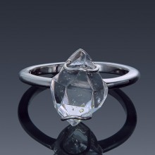 Herkimer Diamond North to South Set Ring 925 Sterling Silver Made to order-1856-custom-20