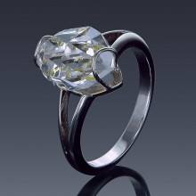 Herkimer Diamond Ring Split Shank 925 Sterling Silver-1859-20