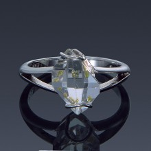 Herkimer Diamond Split Shank 925 Sterling Silver Ring Made to order-1859-custom-20