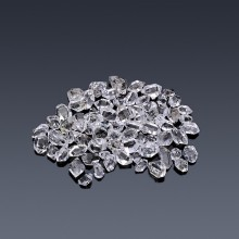 100cts Carats Drilled Small Herkimer Diamonds for Jewelry Making-100ct drilled herkimer-A-20