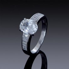 2cwt Zircon Engagement Ring with Swarovski Crystal Accents-1853-20
