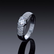 1ct Zircon Engagement Ring with Swarovski Accents-1846-20