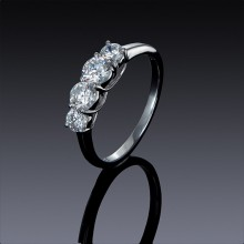 Zircon Engagement Ring 925 Sterling Silver-1838-20