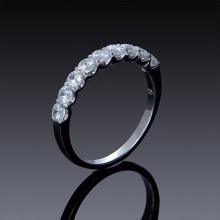 Zircon Ring Half Eternity Band 925 Sterling Silver-1848-20